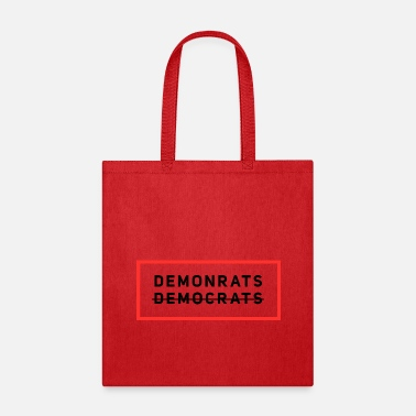 Election Demonrats Anti-Democrats Election Campaign T-Shirt - Tote Bag