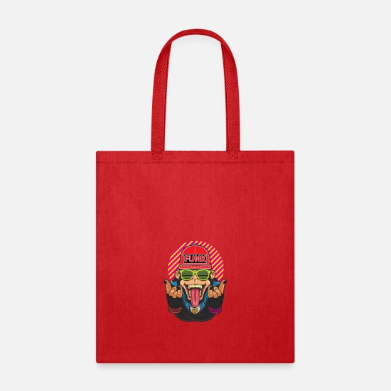 Funky Bags & Backpacks - Funky Monkey - Tote Bag red