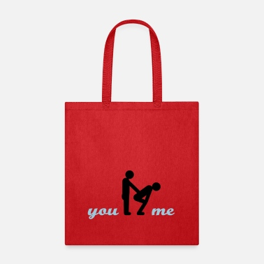 Funny gay guys bottom - Tote Bag