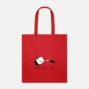 Stencil DIVE. INTO. LIFE. (b) - Tote Bag