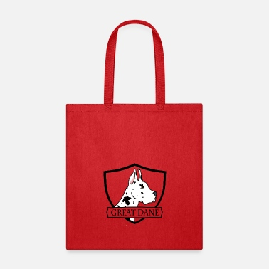 Harlequin Great Dane - Cropped Harlequin - Tote Bag