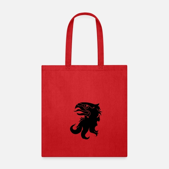 Eagle Head Bags & Backpacks - eagle crest - Tote Bag red