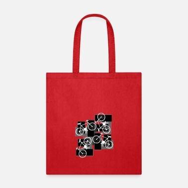 Rectangle Bicycle Rectangles - Tote Bag