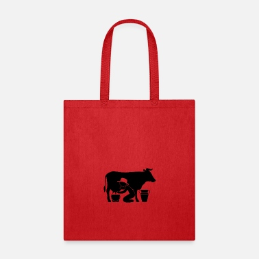 Udder A Farmer Milking A Cow - Tote Bag