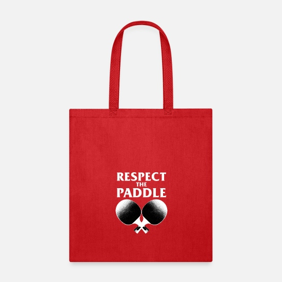 Pong Bags & Backpacks - Respect The Paddle T-Shirt Ping Pong Racket - Tote Bag red