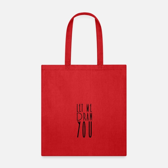 Drawing Bags & Backpacks - Drawing Drawing Drawing Drawing - Tote Bag red