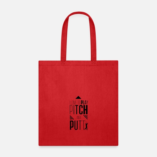 Pitch & Putt Bags & Backpacks - Golfer Golfing Pitch Pitch and Putt Putt Golf - Tote Bag red