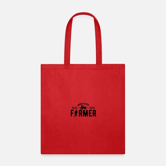 Farming Bags & Backpacks - Tractor Farm Animal Farm Farming Farmer - Tote Bag red