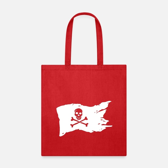 Pirate Skull Bags & Backpacks - jolly Roger - Tote Bag red