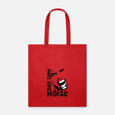 Noise make some noise face / Noise - Tote Bag