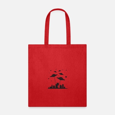 Scifi UFO Alien SciFi City - Tote Bag