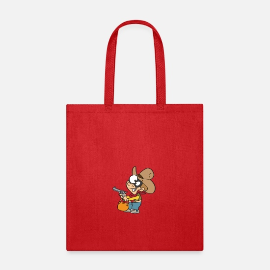 Funny Bags & Backpacks - COD Joke - Tote Bag red