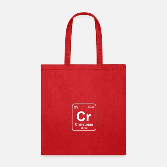 Periodic Table Bags & Backpacks - Periodic Table Christmas - Tote Bag red