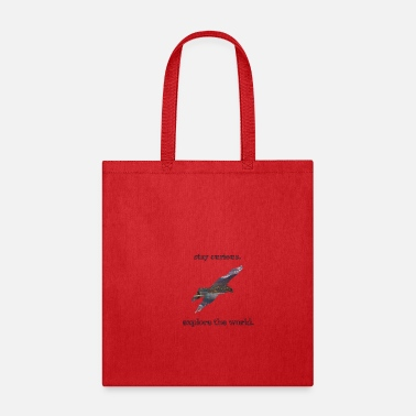 Planet Curious Wanderlust Travel Adventure Nature Eagle - Tote Bag