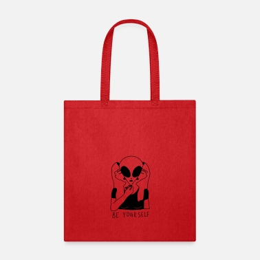 Yourself Be Yourself - Alien Space - Tote Bag