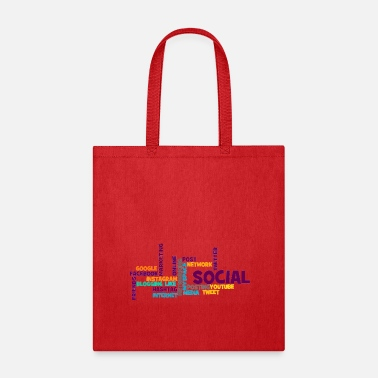 Social word cloud social media - Tote Bag