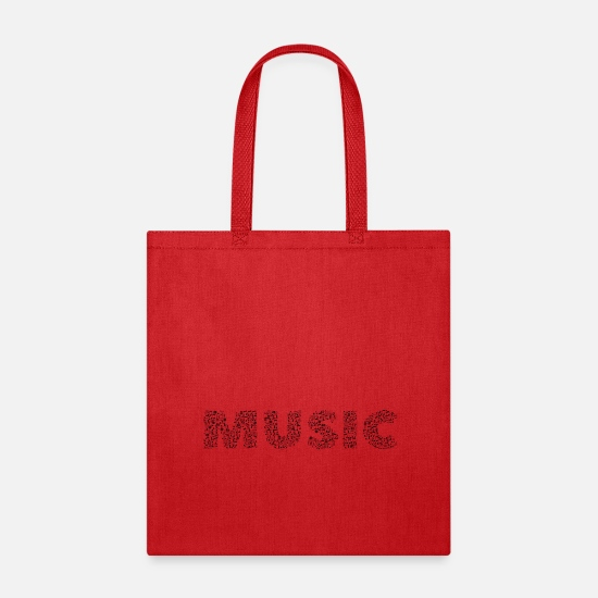 Music Note Bags & backpacks - music notes - Tote Bag red