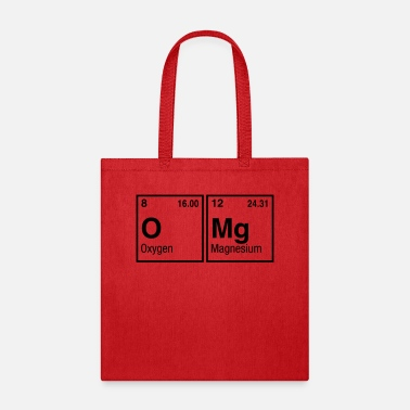 Table OMg written with Elements of the Periodic Table - Tote Bag