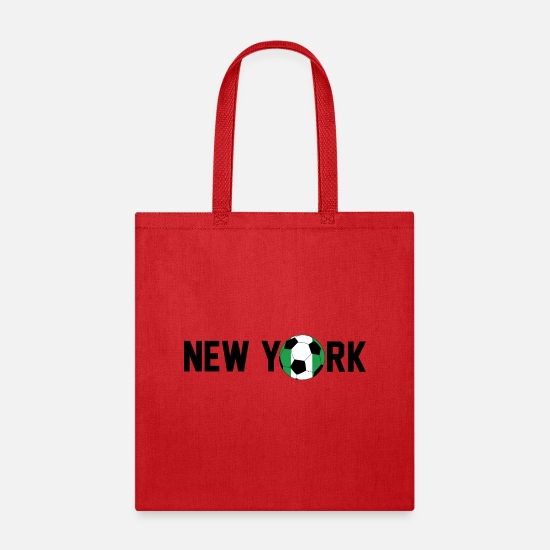 New York Soccer Tees Bags & Backpacks - New York Nigeria Soccer Football - Tote Bag red
