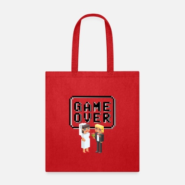 Game Over - Just Married Shirt - Tote Bag