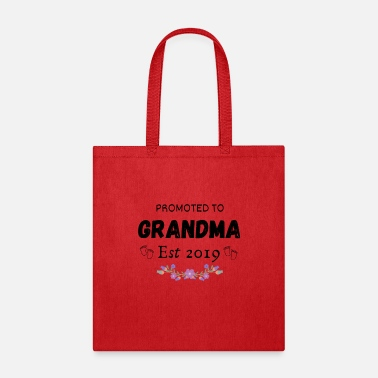 Grandma Announcement Promoted to Grandma est 2019 Shirt - Tote Bag