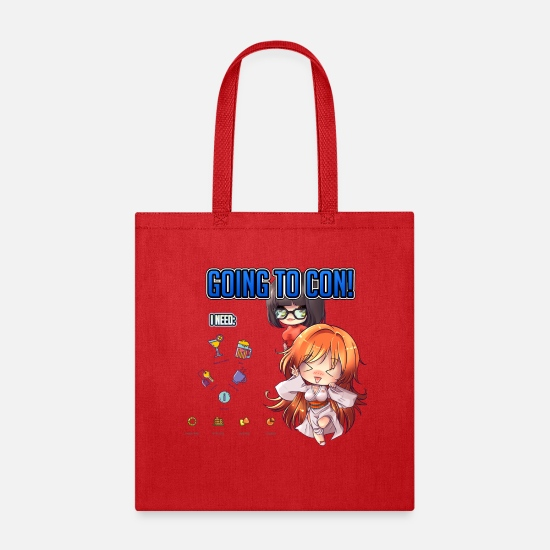 Comics Bags & Backpacks - GOING TO CON - Tote Bag red