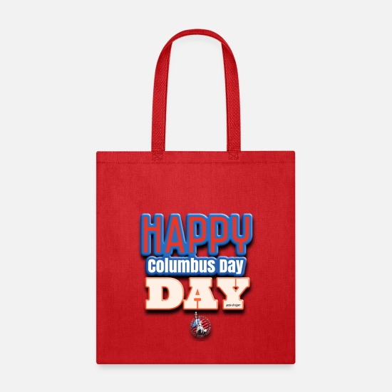 Usa Bags & Backpacks - T-Shirts and dresses to mark American columbus Day - Tote Bag red