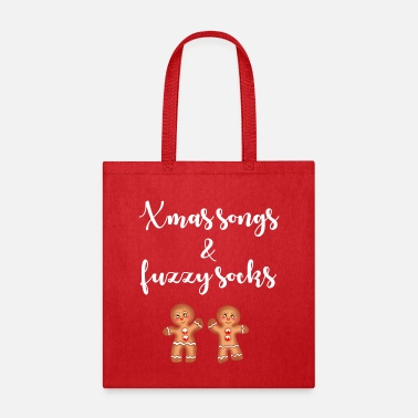Baby Quotes Christmas songs and fuzzy socks. Funny Xmas quote. - Tote Bag