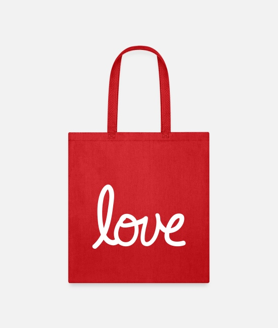 Friendship Bags & Backpacks - love - Tote Bag red