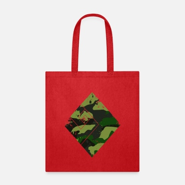 Trend Square camouflage pattern green - Tote Bag