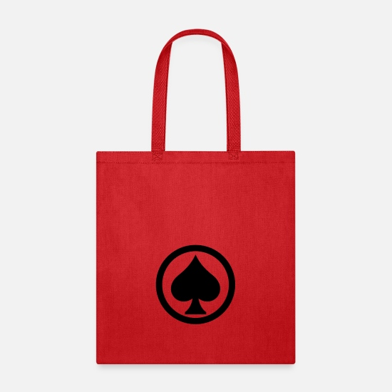 Pik Bags & Backpacks - Pik Spade Cards Cardgame Mountaintop Peak Gift - Tote Bag red