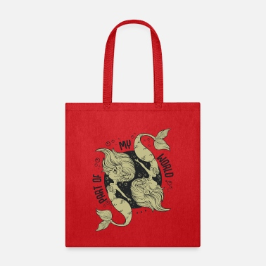 Fairy Tale Figure Cute Mermaids Mythical Fairy Tale Figure Fable - Tote Bag