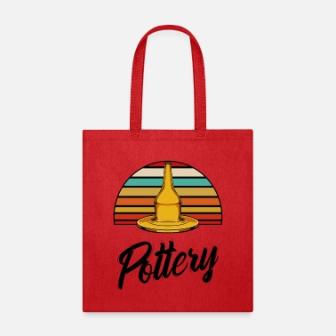 Potter Vintage retro pottery wheel pottery pottery gift - Tote Bag
