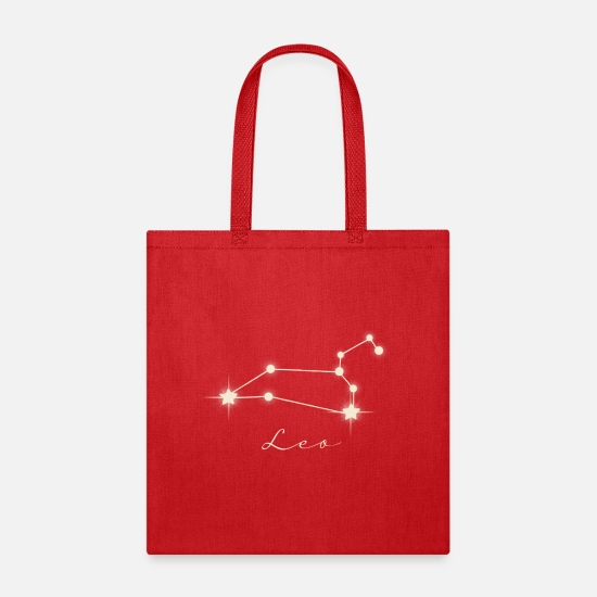 Horoscope Bags & Backpacks - Star sign Leo - Tote Bag red