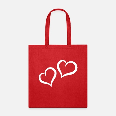 Cuore very nice double heart white - Tote Bag