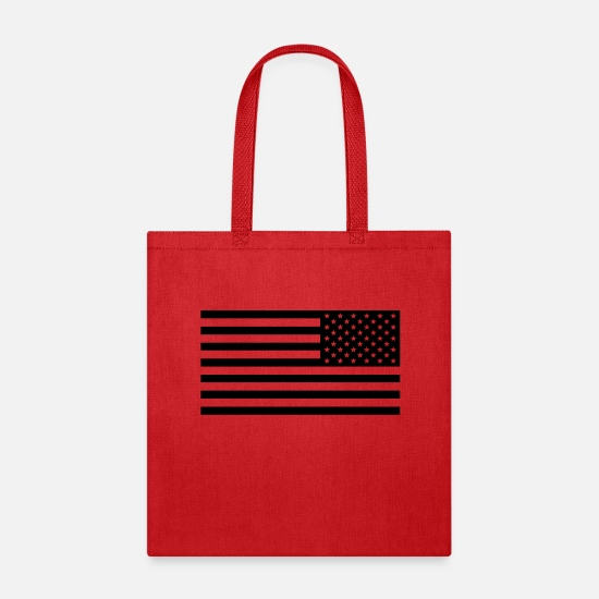 Usa Bags & Backpacks - American Flag Tactical Subdued HQ - Tote Bag red
