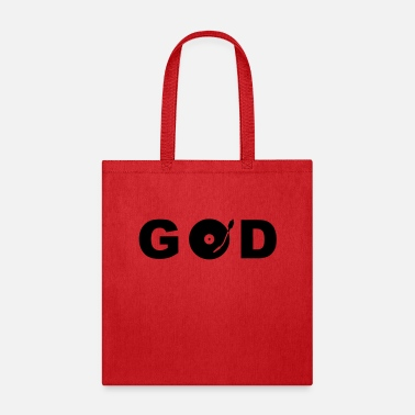 Record GOD is a DJ - Tote Bag
