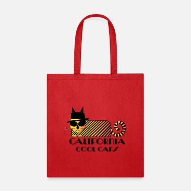 Cool California CALIFORNIA COOL CATS/ Cool Hat Cat - Tote Bag