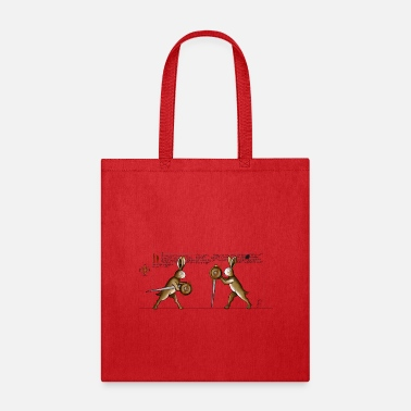 Medieval Rabbits in Towerfechtbuch - Tote Bag