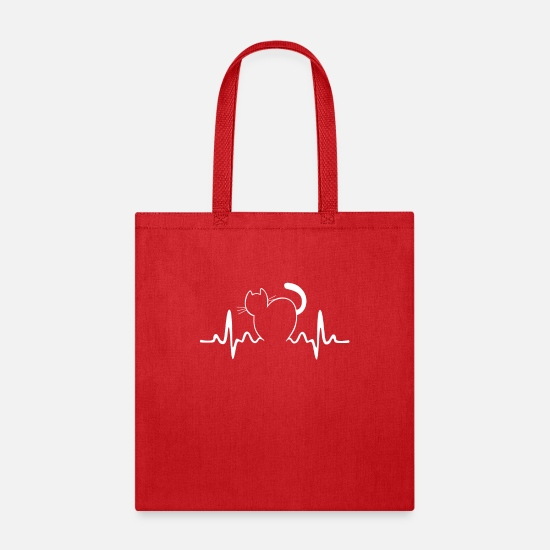 Gift Idea Bags & Backpacks - Cat - Tote Bag red