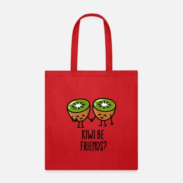 Kiwi Friend Kiwi be friends BFF Kawaii cute kiwi couple love - Tote Bag