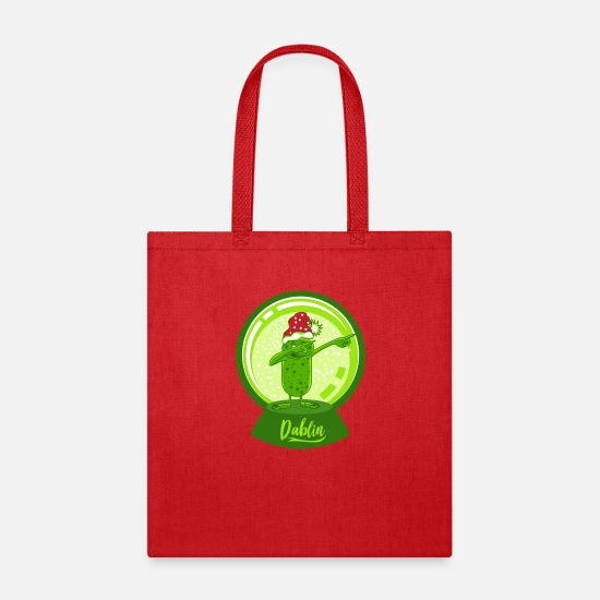 Dancing Bags & Backpacks - Dab Dabbing Goblin Dancing Hob Gremlin Christmas - Tote Bag red