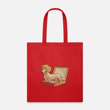 Pizza Dachshund Pizza - Tote Bag