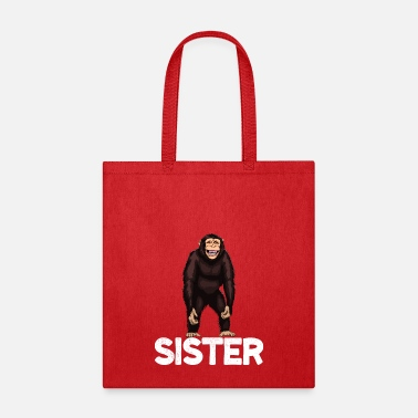 Evolution Monkey Sister Chimpanzee - Tote Bag