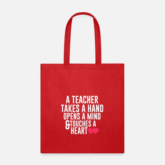 Kindergarten Bags & Backpacks - Gift For Teacher. Costume For Kids - Tote Bag red