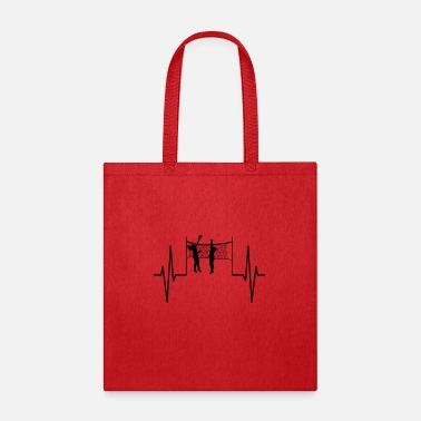 Beach My heart beats for volleyball! heartbeat gift - Tote Bag