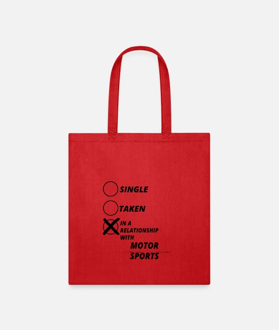 Office Bags & Backpacks - relationship single taken MOTOR SPORTS - Tote Bag red
