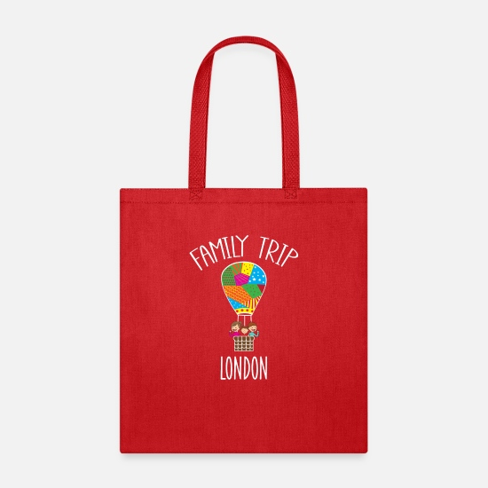 Family Trip Bags & Backpacks - London Family Trip - Tote Bag red