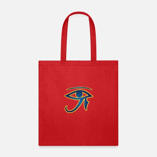 Birthday Bags & Backpacks - Vintage Eye Of Ra Pharaoh Egyptian Graphic Men - Tote Bag red