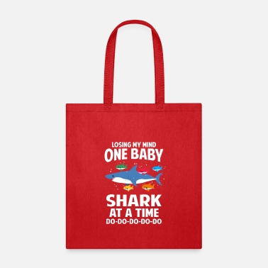 Losing My Mind One Baby Shark At A Time Family - Tote Bag